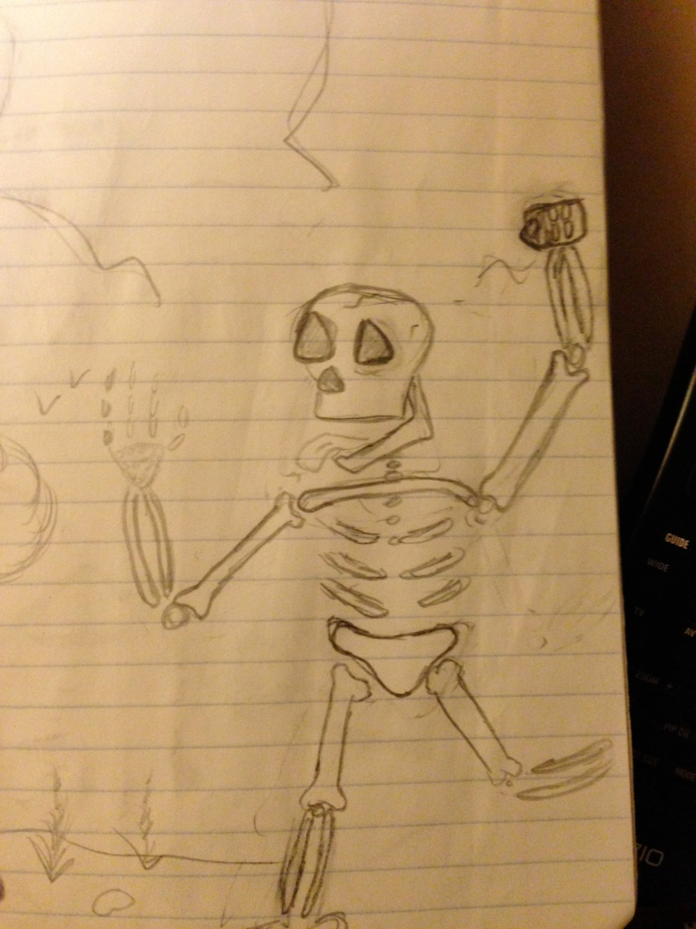 A Happy Skeleton